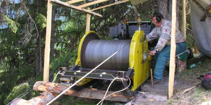 Cable winch W-40 • Wyssen Seilbahnen AG